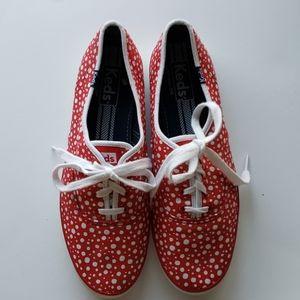 Keds Red Polka dot shoes